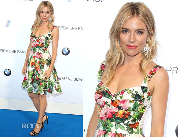 97552b47f22 Sienna Miller In Dolce   Gabbana - BMW i3 Global Reveal Event - Red ...