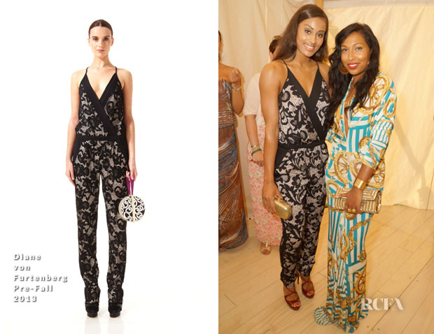 Skylar Diggins In DVF & Melanie Fiona In Vintage - 14th Annual 'Art for Life' Hamptons Gala