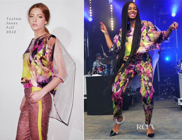 Solange Knowles In Teatum Jones - 2013 Glastonbury Festival