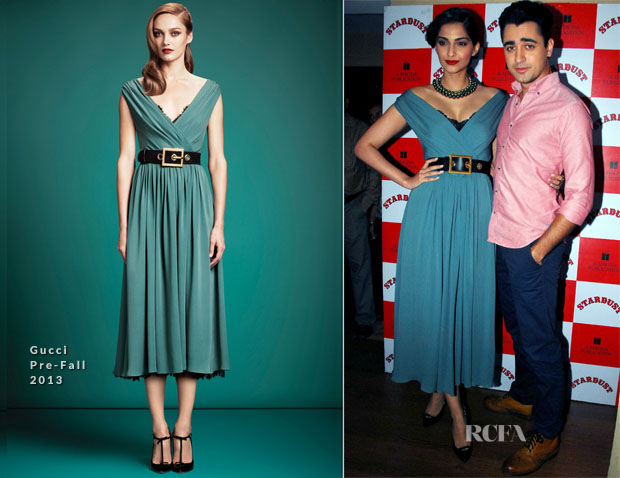 Sonam Kapoor In Gucci - Stardust Magazine August 2013 Cover Party