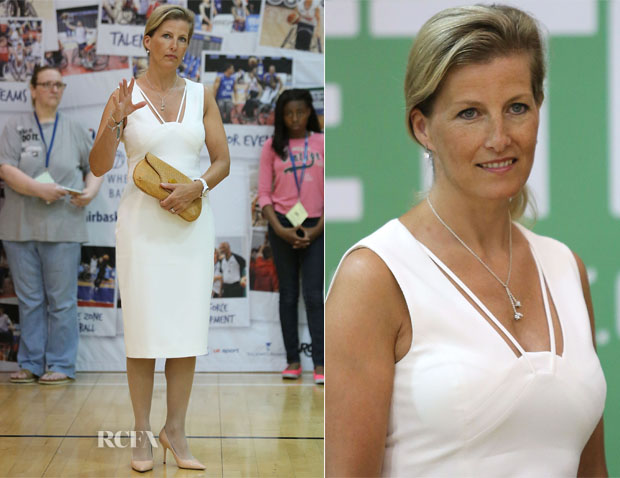Sophie, Countess of Wessex In Antonio Berardi - British Wheelchair Basketball Announcement
