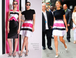 Stacy Keibler In Christian Siriano - Good Morning America