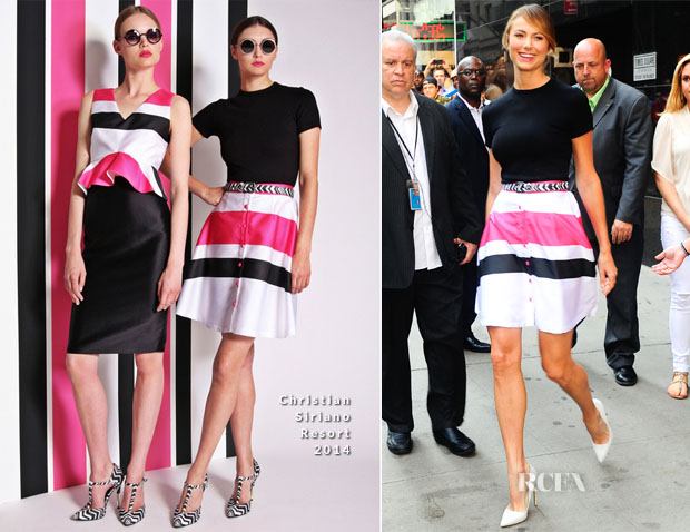 Stacy Keibler In Christian Siriano - Good Morning America copy