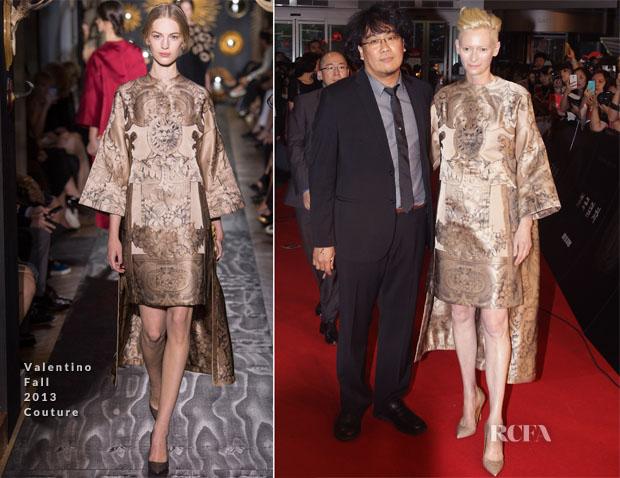 Tilda Swinton In Valentino Couture – 'Snowpiercer' Premiere
