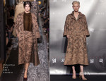 Tilda Swinton In Valentino Couture - 'Snowpiercer' Seoul Press Conference