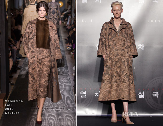 Tilda Swinton In Valentino Couture - 'Snowpiercer' Press Conference