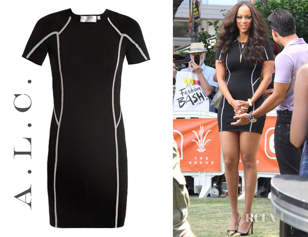Tyra Banks' ALC Evans Knit Bodycon Dress