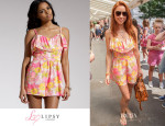 Una Healy's Lipsy Frill Bust Playsuit
