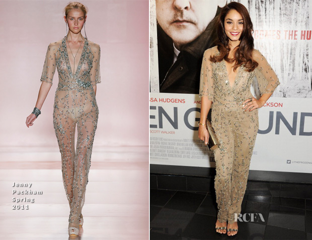 Vanessa Hudgens In Jenny Packham - 'The Frozen Ground' London Premiere