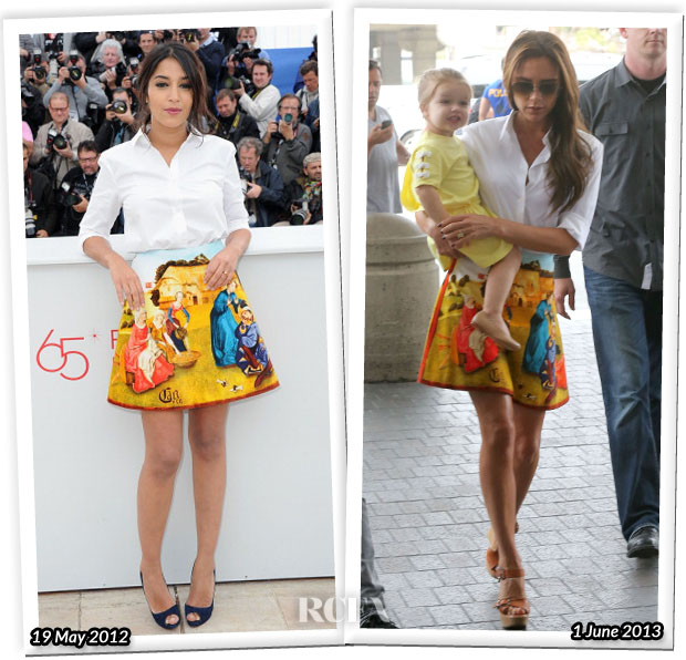 Who Wore Carven Better Leila Bekhti or Victoria Beckham