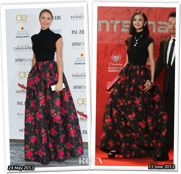 Who Wore Michael Kors Better Stacy Keibler or Zhang Xinyi