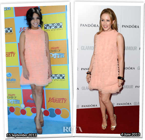 Who Wore Moschino better Vanessa Hudgens or Kylie Minogue