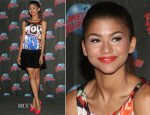Zendaya Coleman In Moschino - Zendaya Planet Hollywood Hand Print Ceremony
