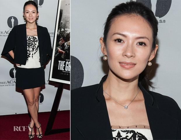 Zhang Ziyi In Emilio Pucci & Barbara Bu - 'The Grandmaster' LA Screening