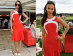 Zoe Saldana In Antonio Berardi - Audi International Polo