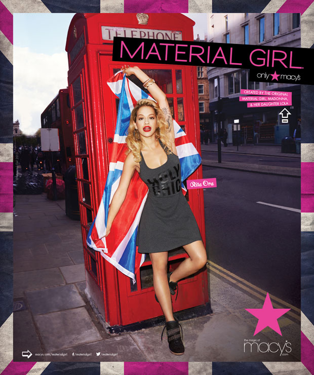 Rita Ora for Material Girl Fall 2013 Ad Campaign