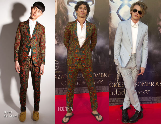 'The Mortal Instruments City of Bones' Madrid Premiere Menswear Round Up 2