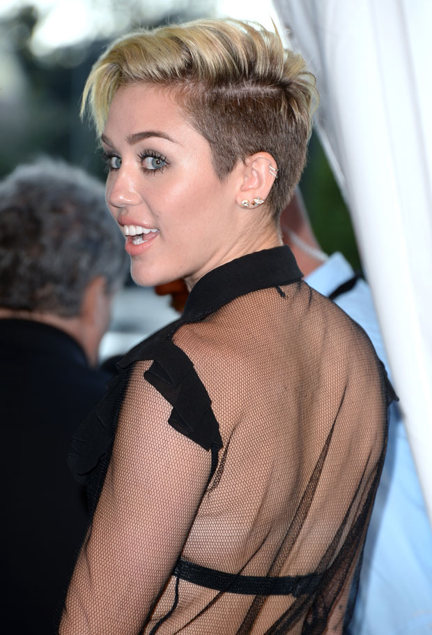 Miley Cyrus in Saint Laurent