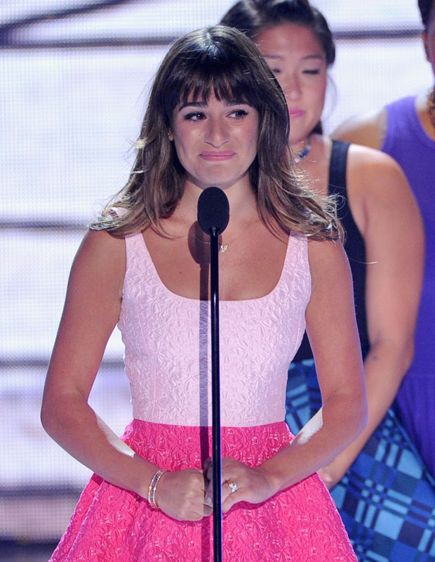 Lea Michele Teen Choice Awards 2013 Red Carpet Fashion