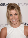 Julianne Hough in Bec & Bridge and Halston Heritage