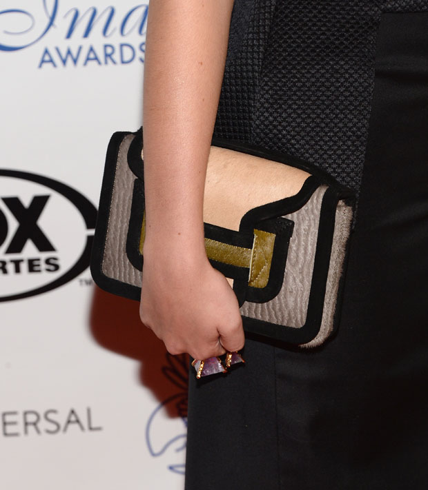 Bella Thorne's Pierre Hardy clutch