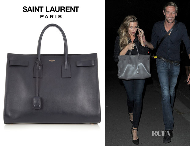 Abbey Crouch's Saint Laurent Sac du Jour Leather Tote