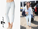 Alessandra Ambrosio's 7 For All Mankind Josefina Skinny Distressed Light Boyfriend Jeans