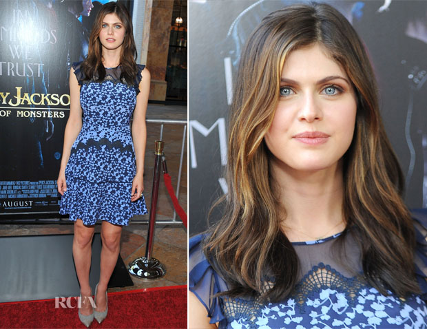 Alexandra Daddario In Diane von Furstenberg - 'Percy Jackson Sea Of Monsters' LA Premiere