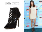 Alexandra Daddario's Jimmy Choo Dane Cut Out Booties