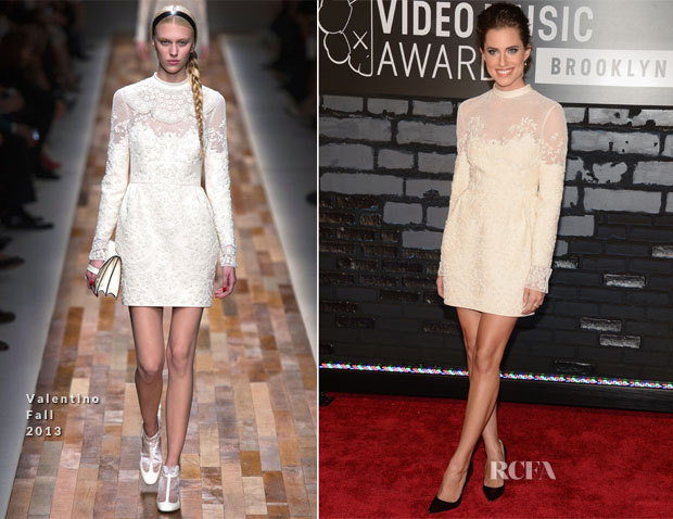 Allison Williams In Valentino - 2013 MTV Video Music Awards #VMAs