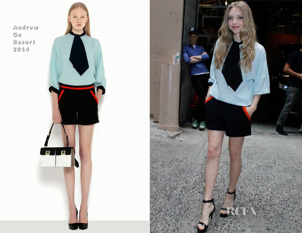 Amanda Seyfried In Andrew Gn - Live with Kelly and Michael