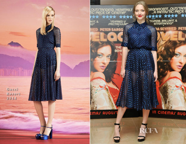 Amanda Seyfried In Gucci - 'Lovelace' London Screening