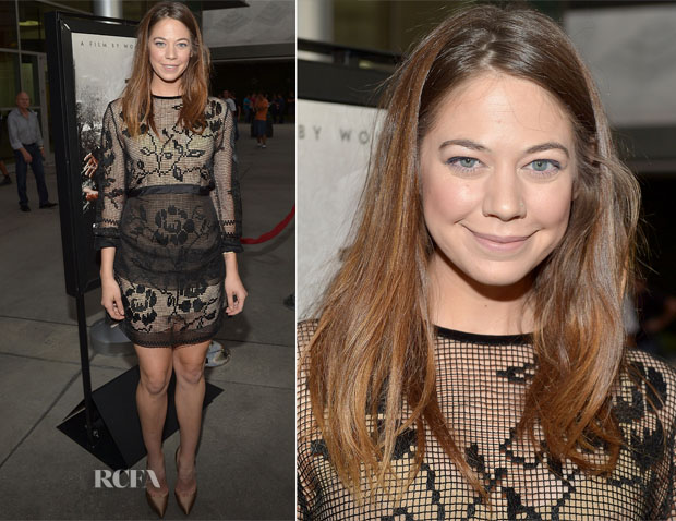 Analeigh Tipton In Alberta Ferretti - 'The Grandmaster' LA Premiere