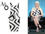 Anna Faris' Alice + Olivia 'Monaco' Peplum Dress