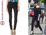 Anne Hathaway's AG Adriano Goldschmied 'Middi' Mid Rise Jeans