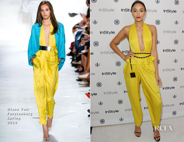 Ashley Madekwe In Diane Von Furstenberg - InStyle Summer Soiree