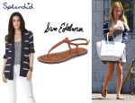 Ashley Tisdale's Splendid 'French Riviera' Stripe Cardigan And Sam Edelman 'Gigi' Flat Sandals