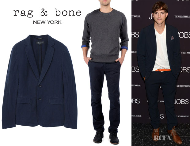 Ashton Kutcher's Rag & Bone 'Phillips' Blazer And Rag & Bone' Blade IV' Trousers