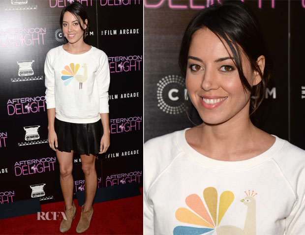 Aubrey Plaza In APC  - 'Afternoon Delight' Premiere