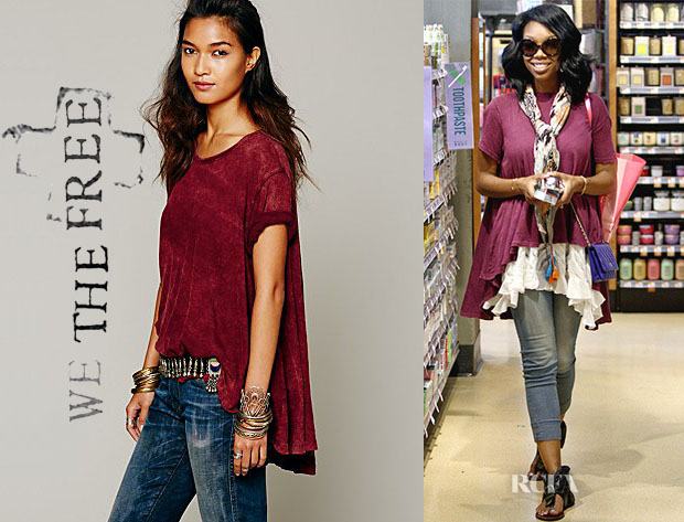 Brandy Norwood's We The Free Circle In The Sand Tee