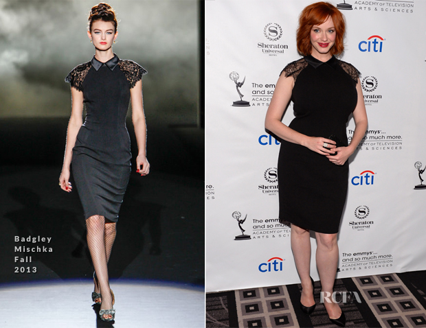 Christina Hendricks In Badgley Mischka - Academy of Television Arts & Sciences' Performers Peer Group Cocktail Reception