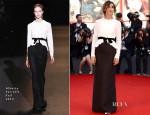 Clotilde Courau In Alberta Ferretti - Venice Film Festival Opening Ceremony & 'Gravity' Premiere