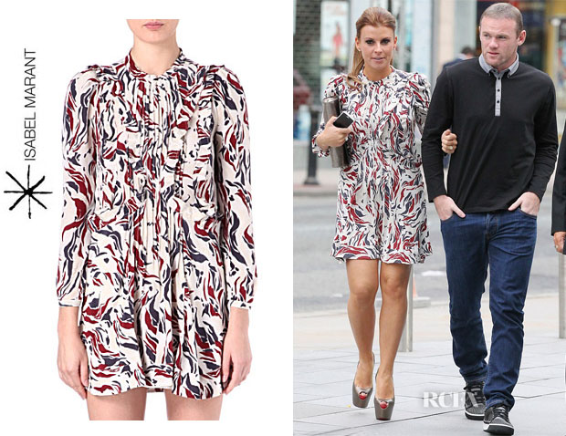 Coleen Rooney's Isabel Marant Salvia Printed Dress