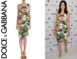 Crystal Reed Dolce & Gabbana Floral Day Dress