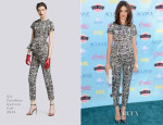 Crystal Reed In CH Carolina Herrera - 2013 Teen Choice Awards