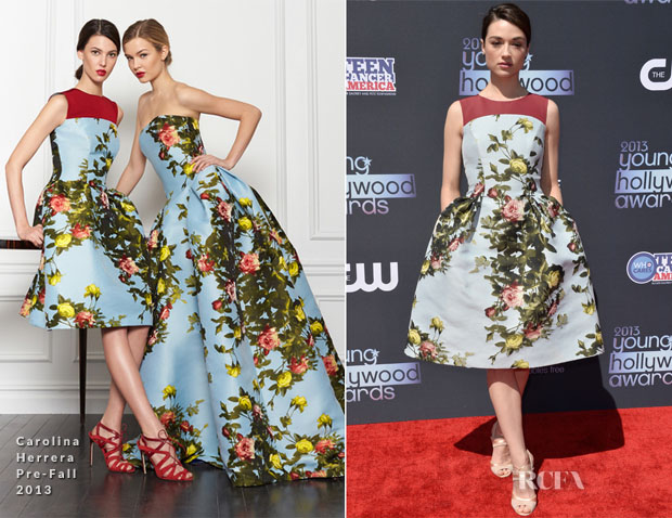 Crystal Reed In Carolina Herrera - 2013 Young Hollywood Awards