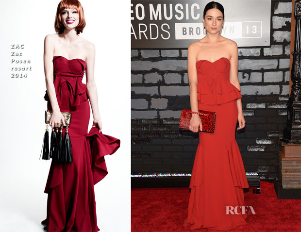 Crystal Reed In ZAC Zac Posen – 2013 MTV Video Music Awards #VMAs