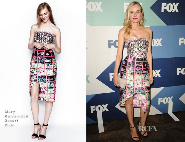 Diane Kruger In Mary Katrantzou - FOX All-Star Party