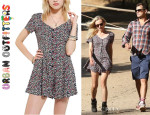 Diane Kruger's Urban Outfitters 'Lucca' Button-Front Cross-Back Romper