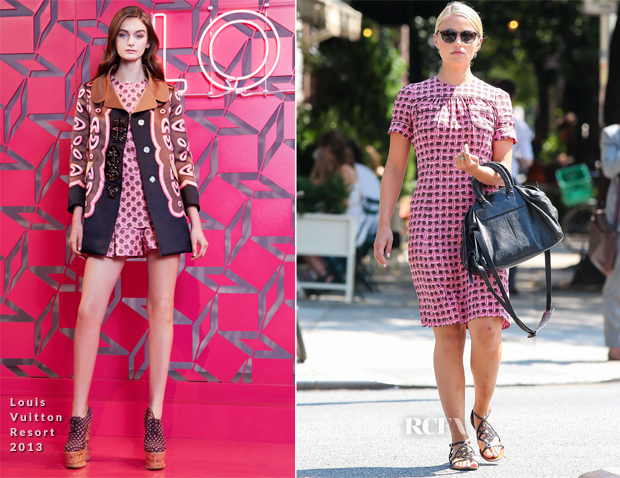 Dianna Agron In Louis Vuitton - Out In New York City